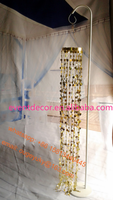 Gold wedding chandelier , plastic ball mirror chandelier hanging