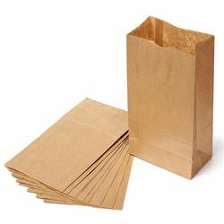 brown/white grocery kraft paper bag