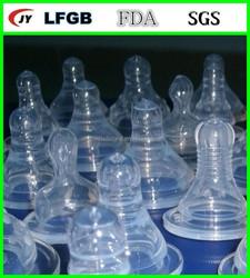 Food grade silicone baby milk bottle nipple/standard Caliber baby silicone nipple