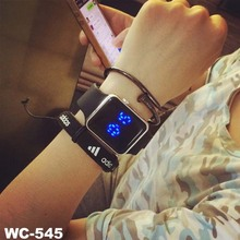 Creative luminous black and white new Korean trend LED watch