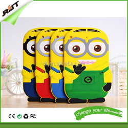 Tablet case 3D cute cartoon silicone case for ipad mini,for ipad silicon case