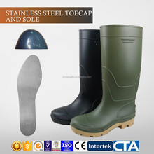JX-AL966 CE China Eco-friendly waterproof plastic cheap rain boots & safety shoes
