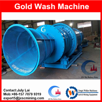 Complete placer gold ore processing line,gold washing machine rotary drum scrubber