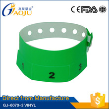 Direct from professional manufacturer different kinds of one time using sublimation wristband for festival