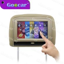 Rohs certificate car headrest monitor USB bus headrest dvd