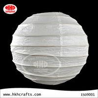 Chinese white paper lanterns round hanging light