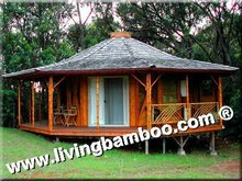 GARDEN NATURAL BAMBOO HOUSE DESIGN