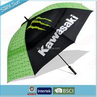 Double Canopies Air Vents Golf Umbrella With BSCI Men Umbrella
