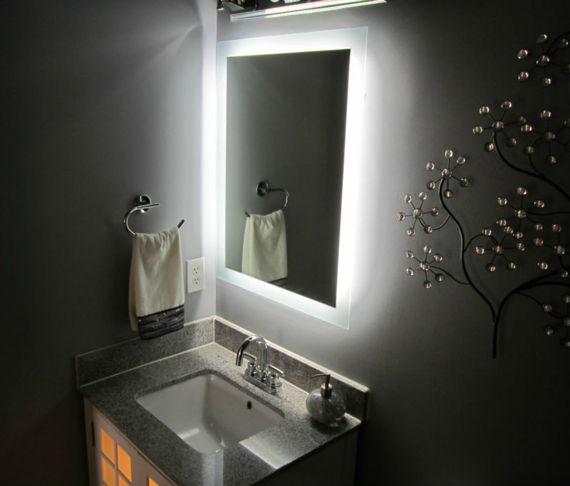 Hotel LED backlit bathroom mirror, decorative lighting ...