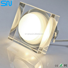 LED recessed ceiling cob downlight crystal 1W square and round Ip65 led light downlight
