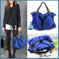 Nylon material and casual style jewelry blue lady fashion bag