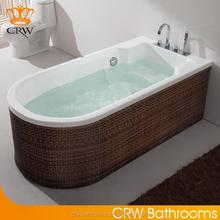Guangdong CRW DB50 Rattan Double Apron Bathtub for Hydromassage