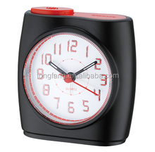 3D arabic numbers touch LED light alarm clock