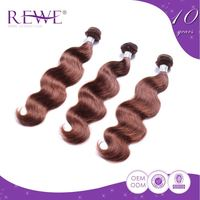 Low Cost Clean And Soft Body Wave Light Brown Curly Weave Extensions