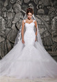 Sexy Lace Train Branco removível e See Through Wedding Dresses China