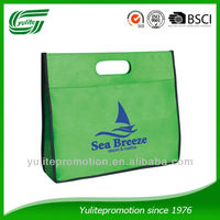 cheap promotional non woven bag with die cut handle