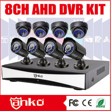 Hotselling Cheap h.264 standalone network dvr with 8 camera kit Dome and 4 Bullet 720P AHD cameras