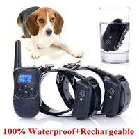 A+Trainer Blue Screen 998DB-2 330Y Remote LCD Display Dog Training Suit Electric Shock Collar Pet Training Products