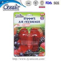 Scented Flip-Flop Car Gel Air Freshener/solid PVC air freshener