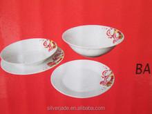 snow man design ceramic 19pcs food plates and bowls