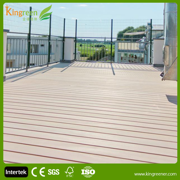 Non slip outdoor marine and swimming pool wood plastic for Non slip composite decking