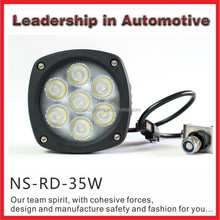 NSSC super bright lifetime warranty IP68 35W cree offroad car led driving light with ce, e-mark,rohs