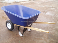 Canada two wheels wheelbarrow with plastic tray 140L WH9600