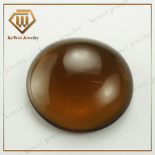 Flat bottom AAAA brown round cut 10mm glass cabochon for sale