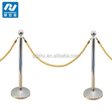 chrome queue line rope stanchion for safety crowd control barrier stanchion