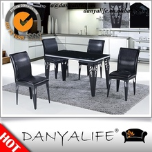 DYF299 Danyalife Hot Selling Steel and Tempered Glass Hotel Cocktail Table