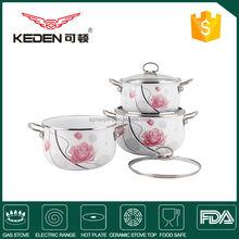 White Porcelain Enamel Non-Microwave Cookware