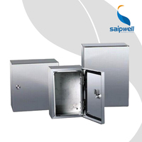 400*300*150 Metal Outdoor Enclosure IP66 Waterproof China Factory Saip Saipwell Stainless Steel Electrical Weatherproof Box