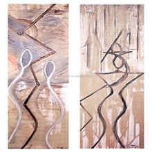 Cheap and high quality 100% handmade abstract dancing women oil painting for hotel decoration