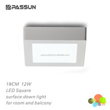 residential high power square led down lighting 12W for ceiling