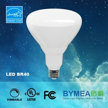 UL cUL Energy Star listed LED BR40 lamp, dimmable, aluminum coating PC smooth design