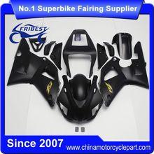 FFGYA001 Motorcycle ABS Fairing Kit For R1 1998 1999 All Matt Black And Gold Sticker