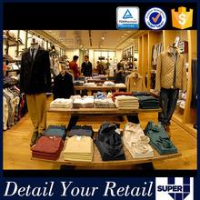 wooden fabric retail fixtures and equipment garment shop interior design