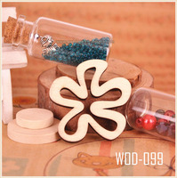 Wooden Flower Power Cabochon or Pendant Assortment all kind of beads WOD099