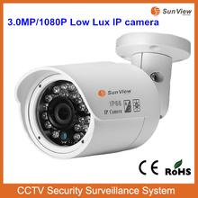 SunView Low lux IR bullet H.264 HD 3.0 Megapixel IP camera sim card