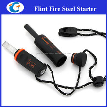 Survival Camping Products Firesteel Firestarter Kit With Whistle LED Light LM-10B