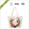 custom printed cotton tote bags supplier with flower design