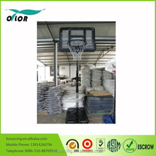 Black durable quick adjustmen 10' portable basketball stand for outdoor practicing