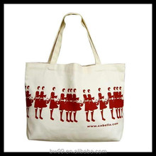 Custom printed canvas shopping bag with high quality