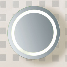 Flush Mount round shape glass led light fixtures for bathroom mirror
