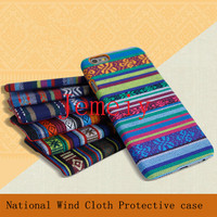 Cell Phone Cases Wholesale Bohemia National Wind Cute Case For Samsung Galaxy S6 Tribal Fabric Cloth Skin