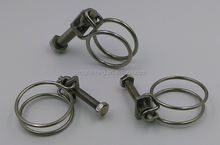 Iron with zinc double wire machine types stainless steel hose clamp