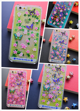 Colorful Liquid Stars Flowing Cellphone Case For iphone 5/6/6 Plus and Samsung Note3/Note4/S6/S6 Edge Glitter Phone Case Cover