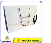 Trade Assurance Cotton Handle Paper Shopping Bag