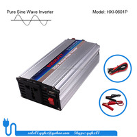 600w pure sine single phase solar power 12v 230v dc to ac pure sine wave inverter with USB single chip control for LED