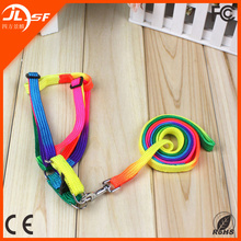 Colorful Pet Dog Harness and Leash Wholesale Dog Leash Nylon Dog Leash